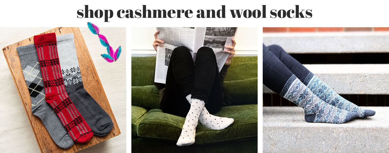 Shop cashmere and wool socks