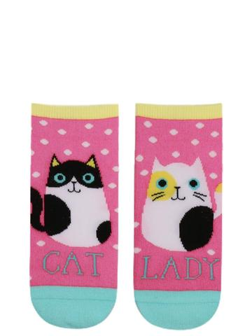 cat lady short socks