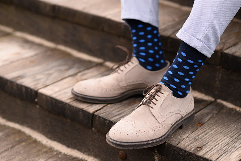 elegant shoes blue socks