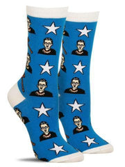 Cool women's socks with Ruth Bader Ginsburg