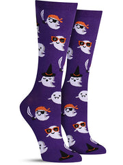 Cute Halloween socks with ghosts dressed up in costumes