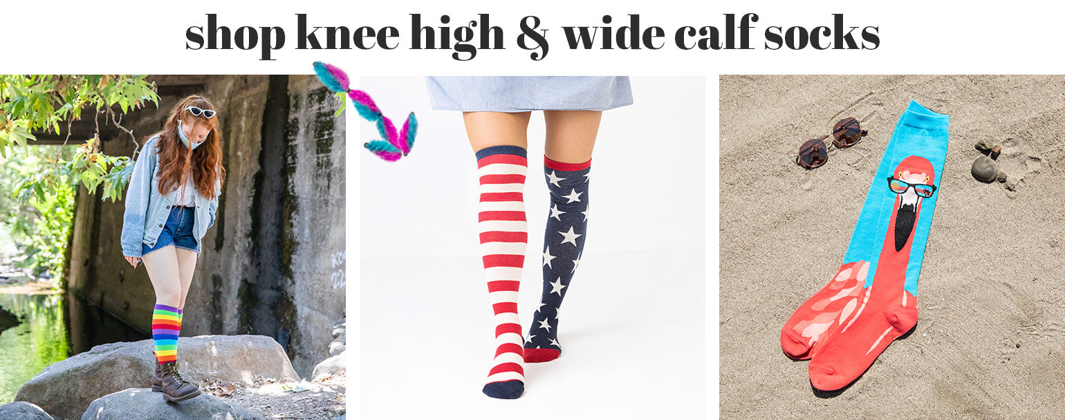 Shop knee highs & wide calf