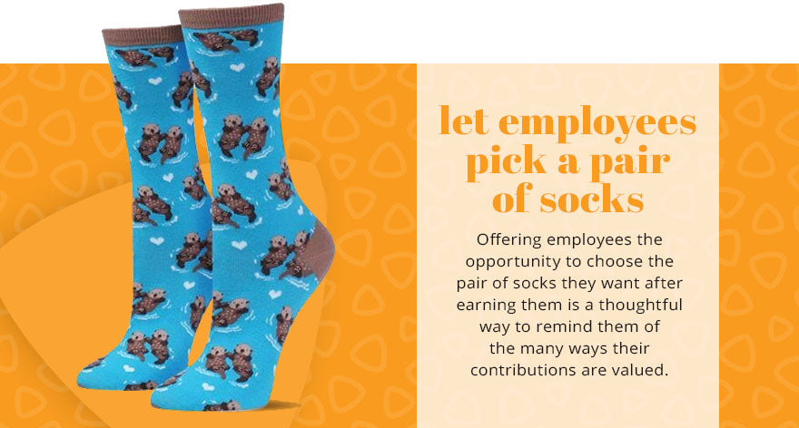 let employees pick pair of socks graphic