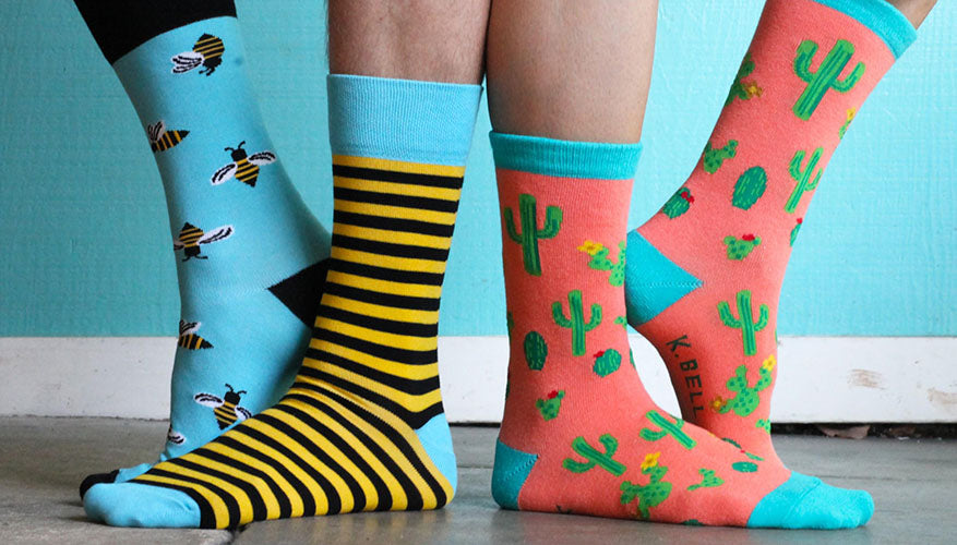 pairs bright colored socks
