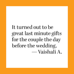 A happy review from customer Vaishali A.