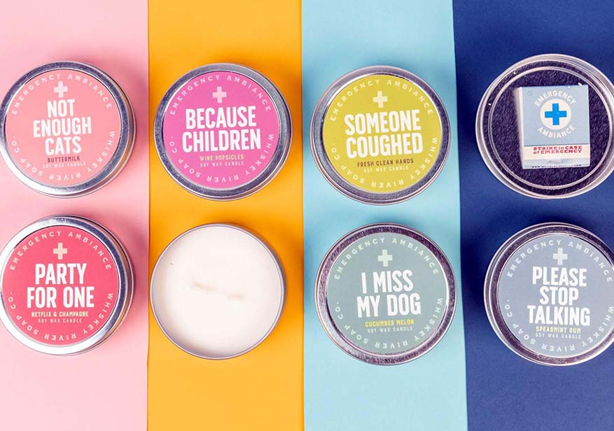 set of hilarious candles featured