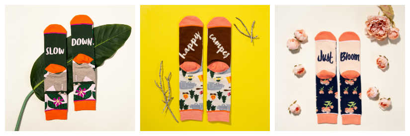 funny womens word socks by Woven Pear