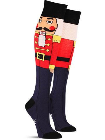 Nutcracker Christmas Fun Novelty Holiday Knee High Socks