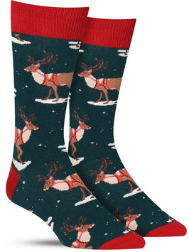 Men's Christmas reindeer socks