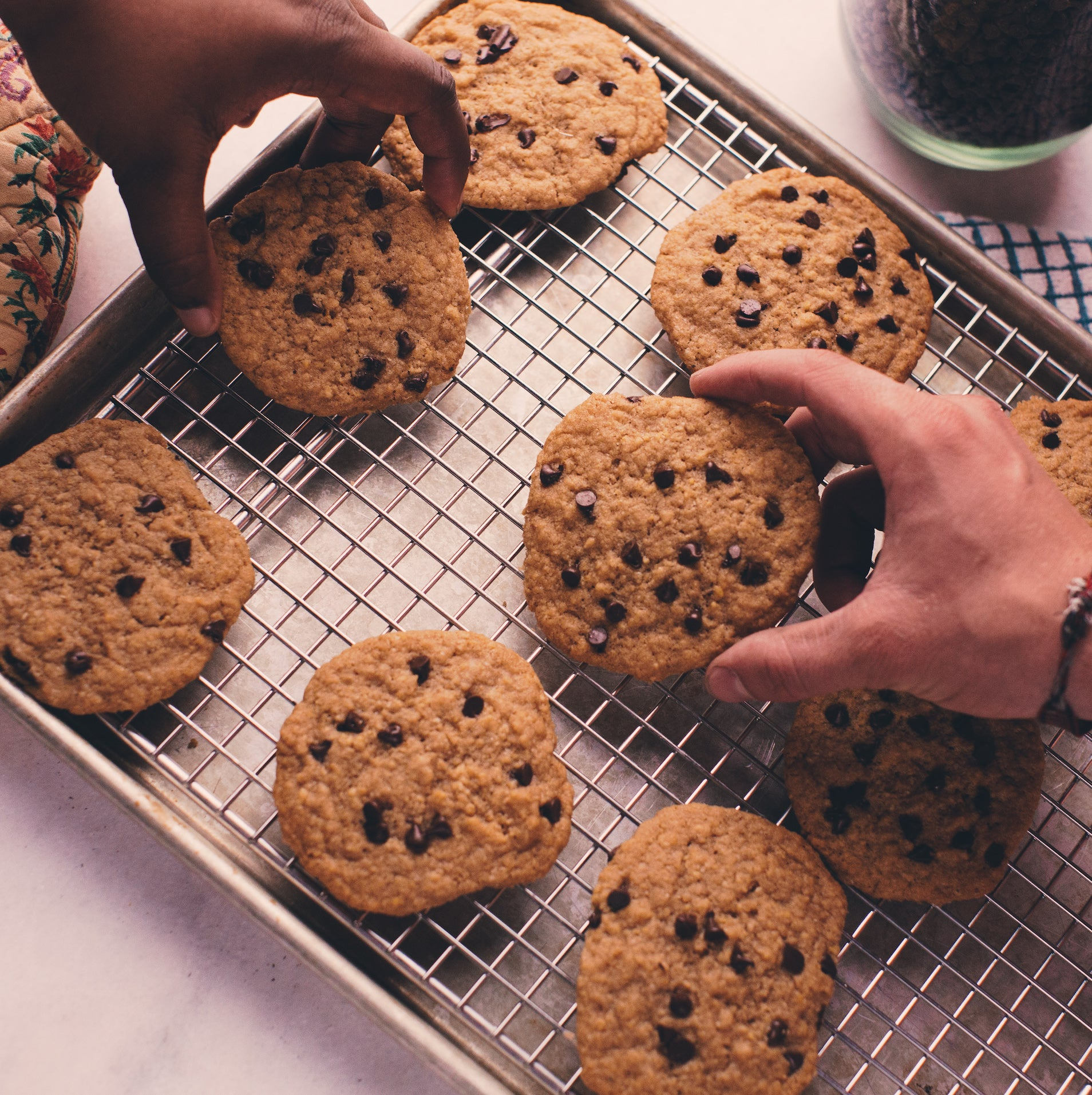 Dark Chocolate Chip Browned Butter Cookies