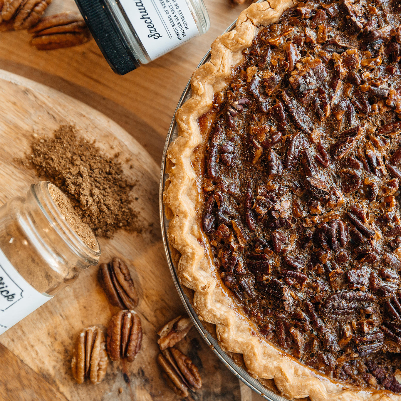 Chinese Five Spice Pecan Pie