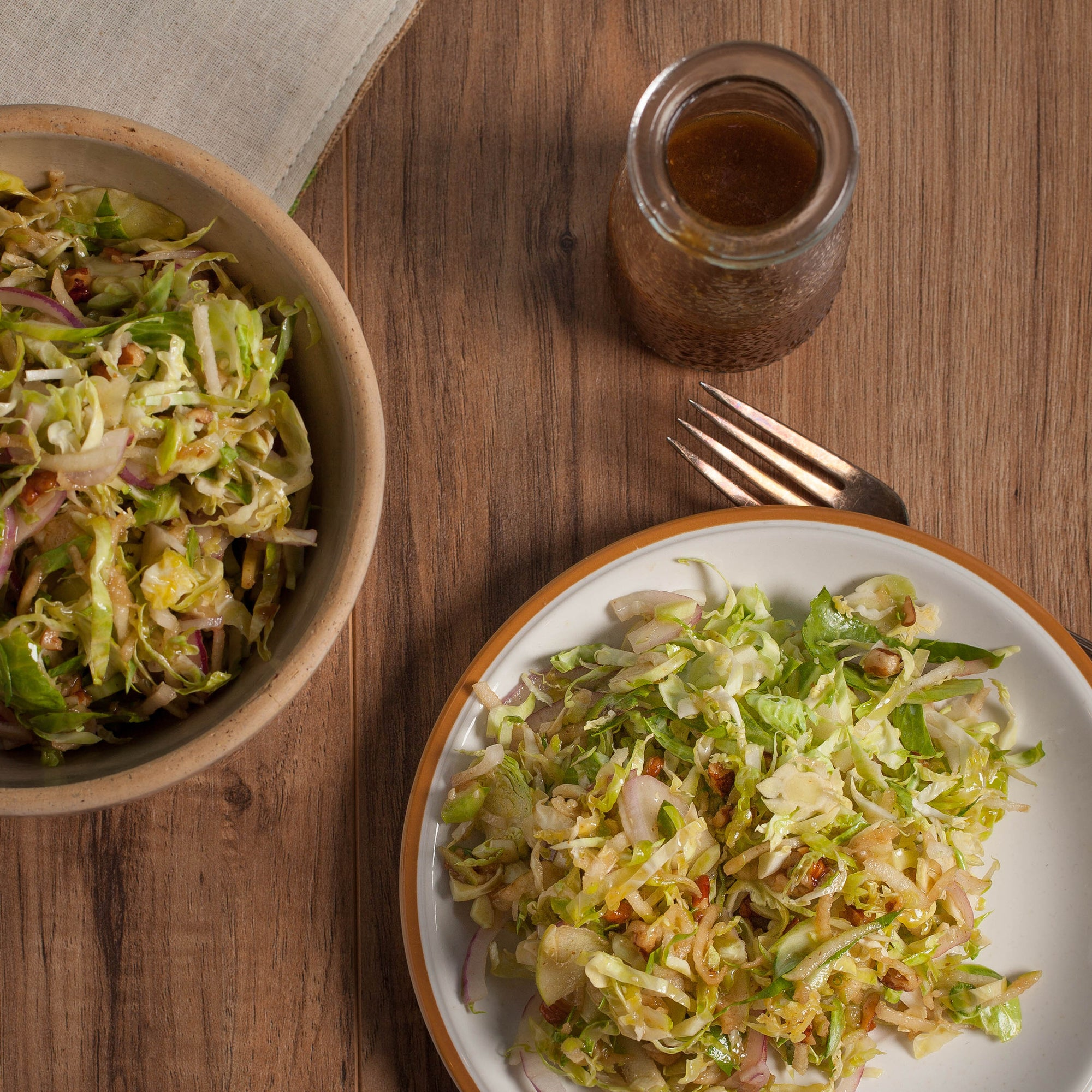 Honey Ginger Brussels Sprout Salad