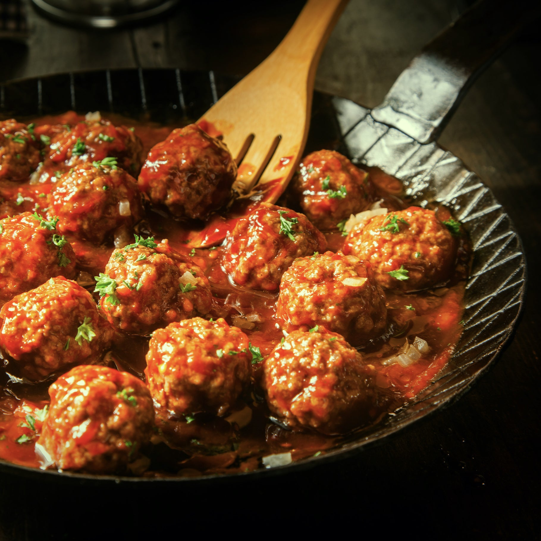 Cashew Coconut Meatballs with Curried Tomato Sauce