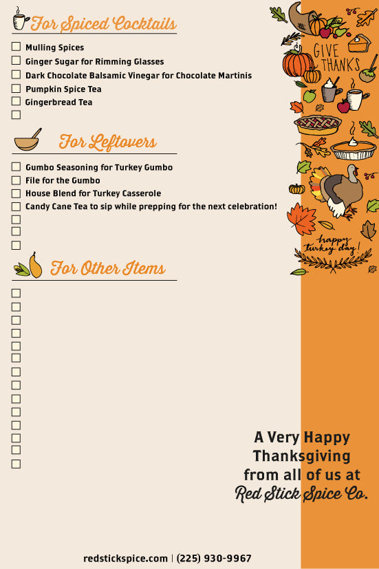 Thanksgiving Ingredient Checklist