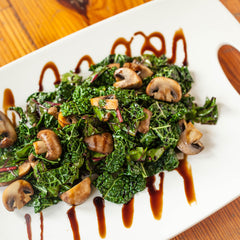Smoky Greens with Mushrooms