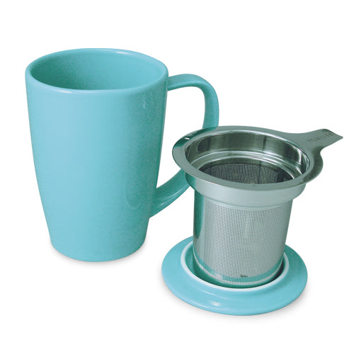 Curve Teaware Tall Tea Mug, Lid, and Infuser