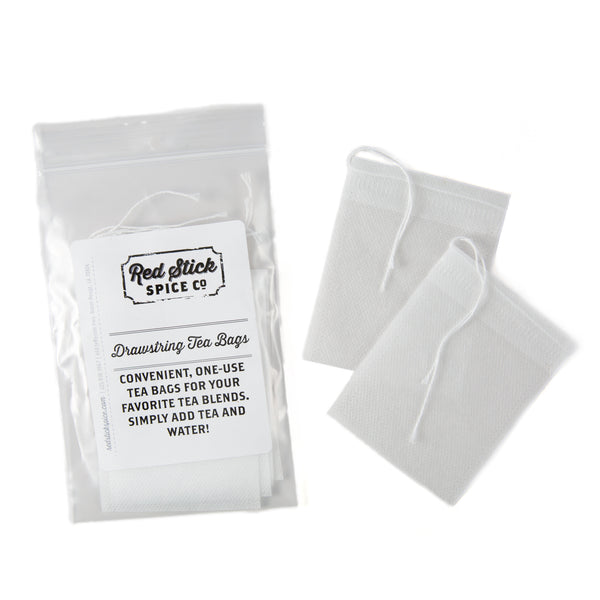 Drawstring Tea Bags - Teaware - Red Stick Spice Company