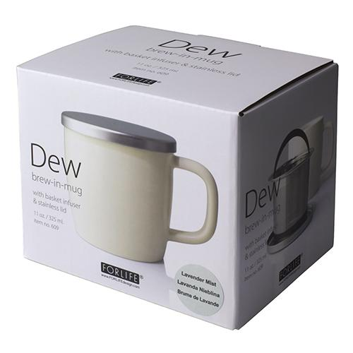 Small Dew Mug with Infuser & Lid 11oz - Teaware - Red Stick Spice Company