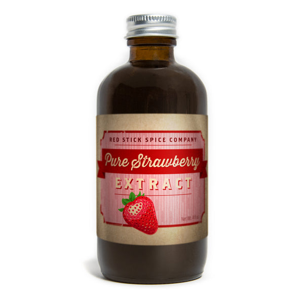 Pure Strawberry Extract 4oz Bottle