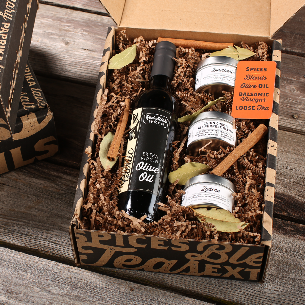 Garlic Oil & Cajun Creole Spice Blend Gift Box - Premium_Gift Boxes - Red Stick Spice Company