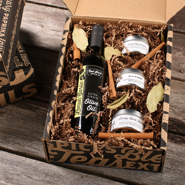 Lemon Garlic Oil & Spice Blend Gift Box - Premium_Gift Boxes - Red Stick Spice Company