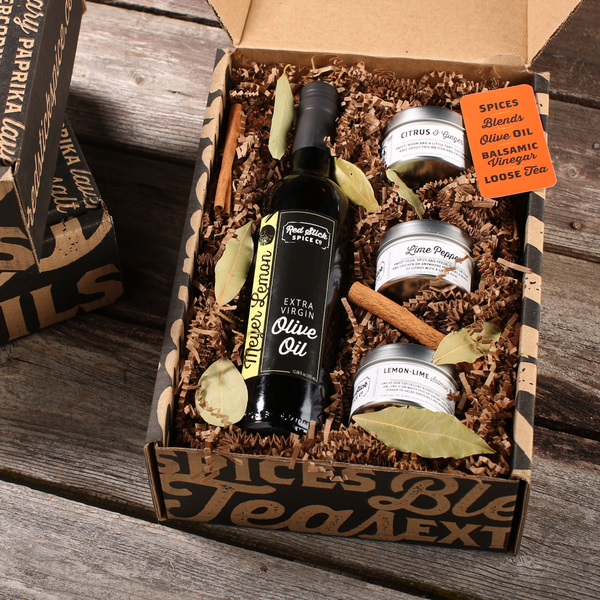 Meyer Lemon Oil & Spice Blend Gift Box