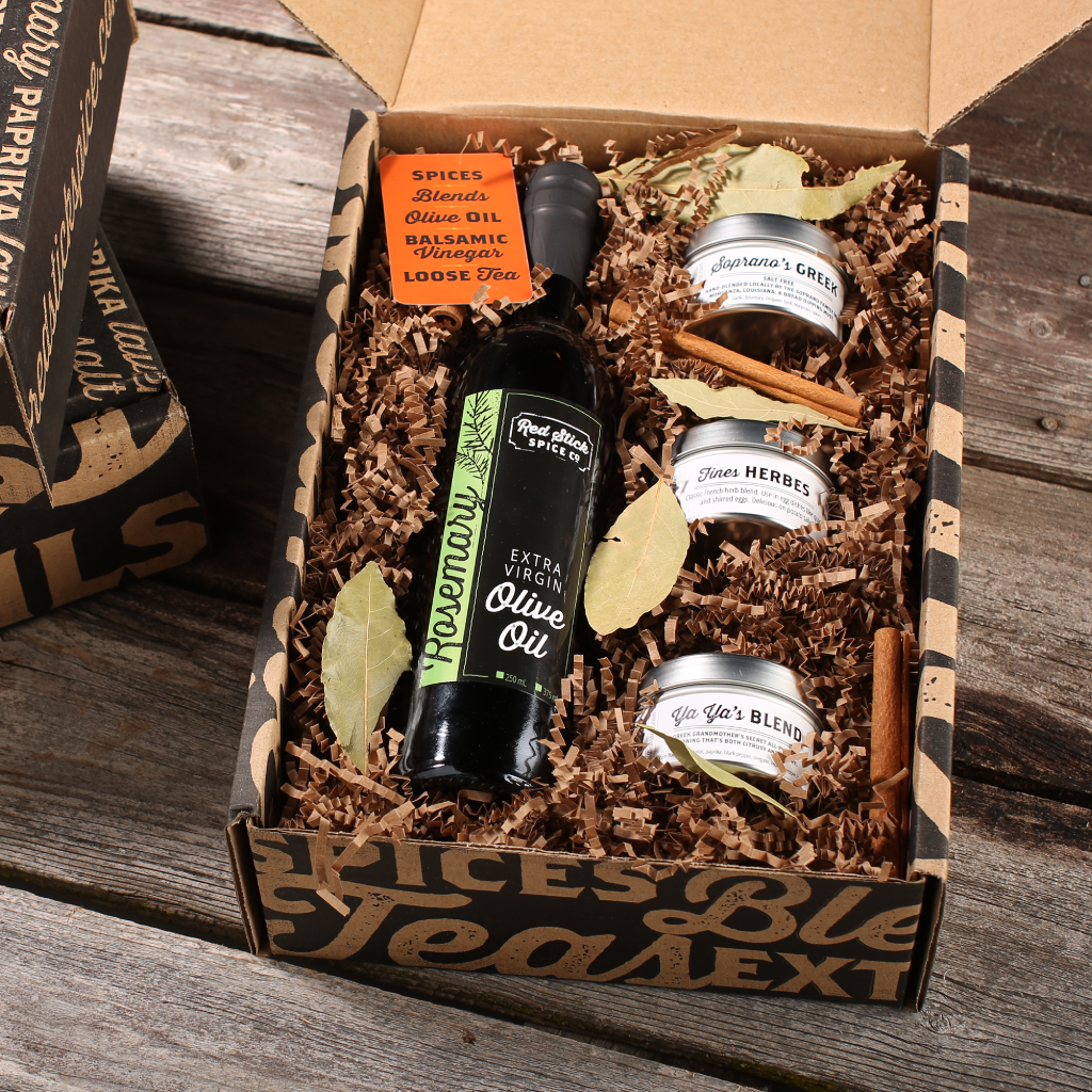 Rosemary Oil & Spice Blend Gift Box - Premium_Gift Boxes - Red Stick Spice Company