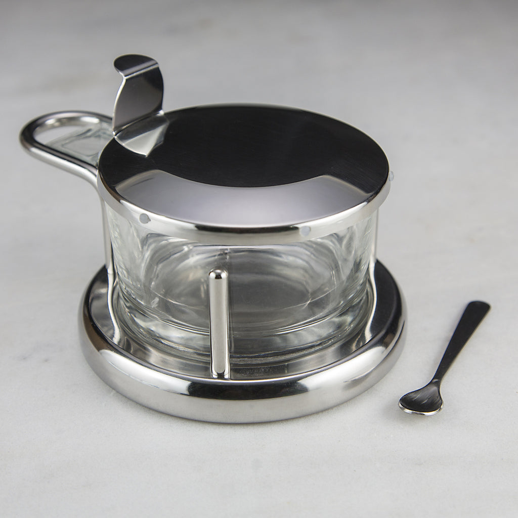Stainless Steel and Glass Salt Cellar - Gift Items - Red Stick Spice Company
