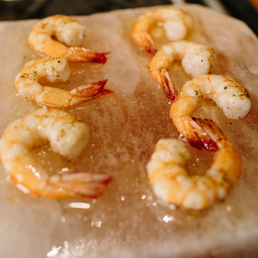 Himalayan Pink Salt - Cooking Shrimp