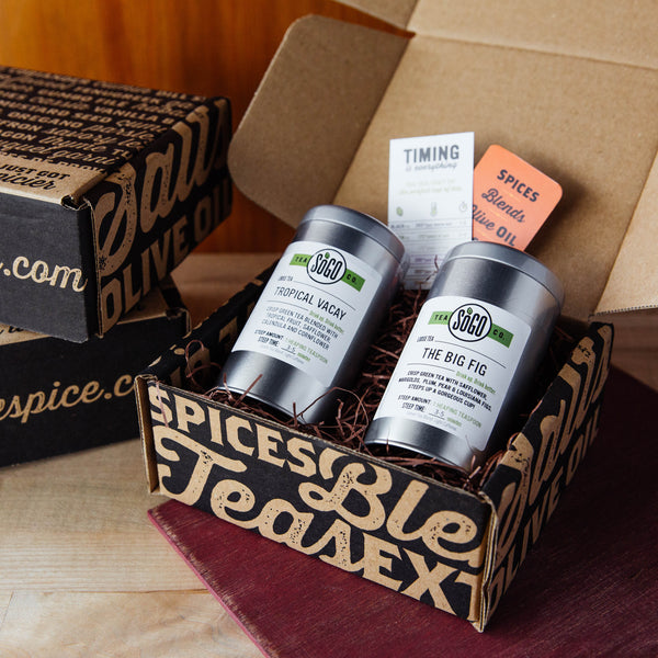 Easy Being Green Tea Gift Box - Premium_Gift Boxes - Red Stick Spice Company