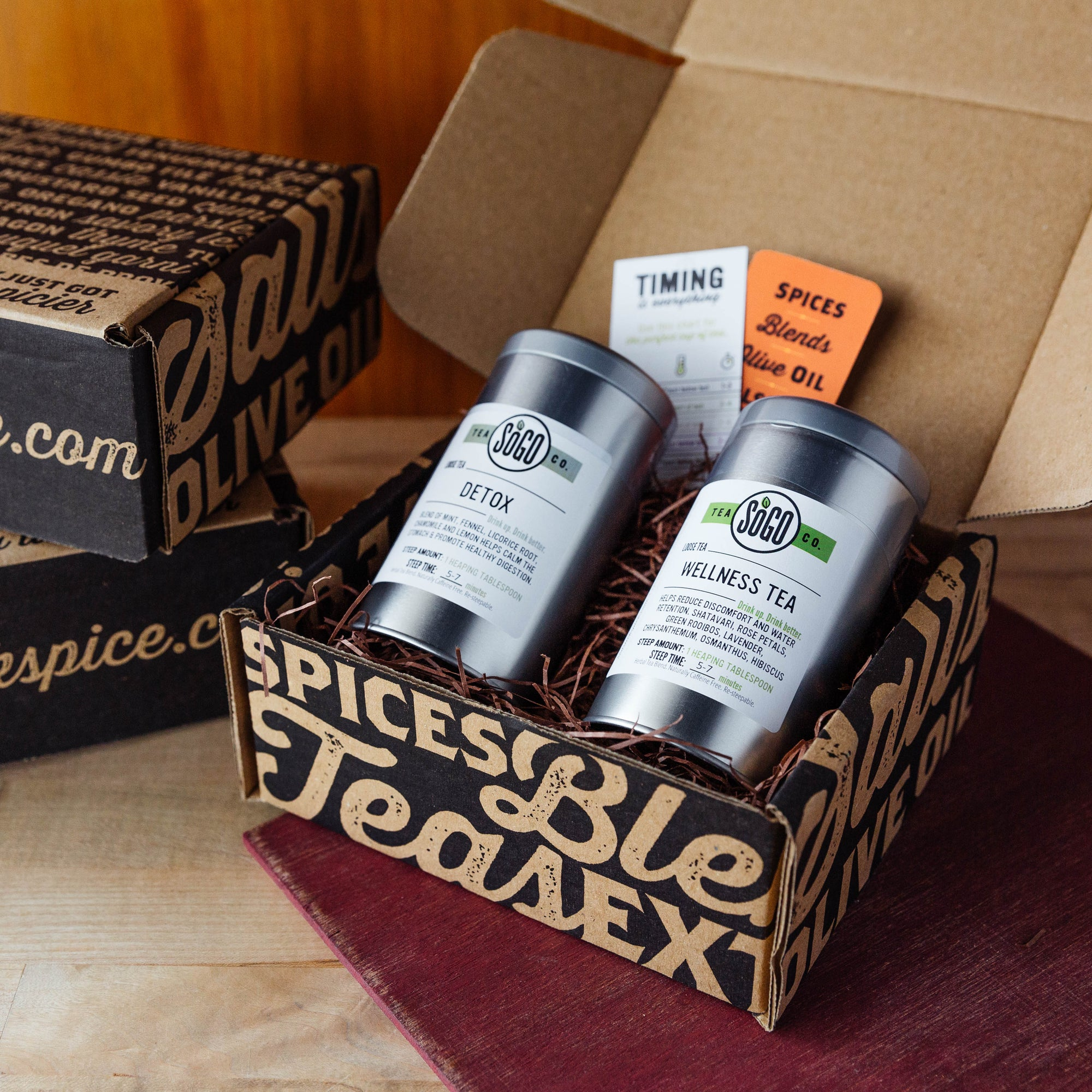 Wellness Tea Gift Box - Premium_Gift Boxes - Red Stick Spice Company