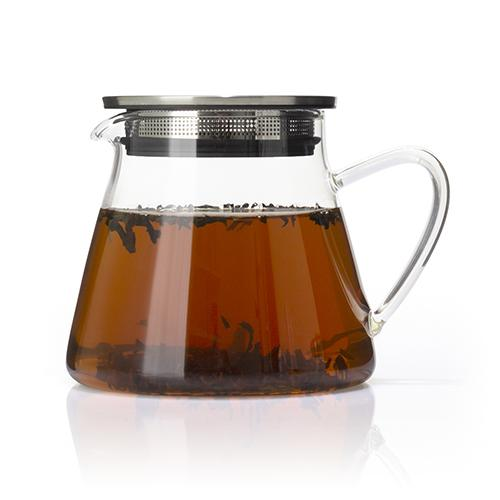 Glass Teapot with Filtering Lid