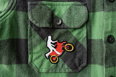 Wheelie Enamel Pin