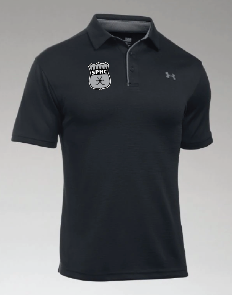 TEAM-SPHC UA Men's Tech Polo Black