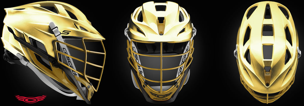 TEAM-Chanhassen Cascade S Chrome Gold Helmet
