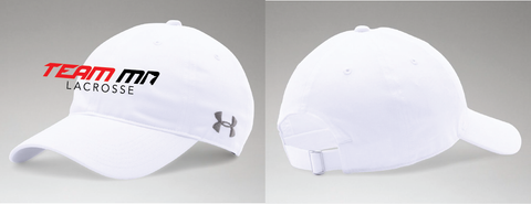 TEAM-Team Minnesota UA Adjustable Relaxed Chino Hat WHITE