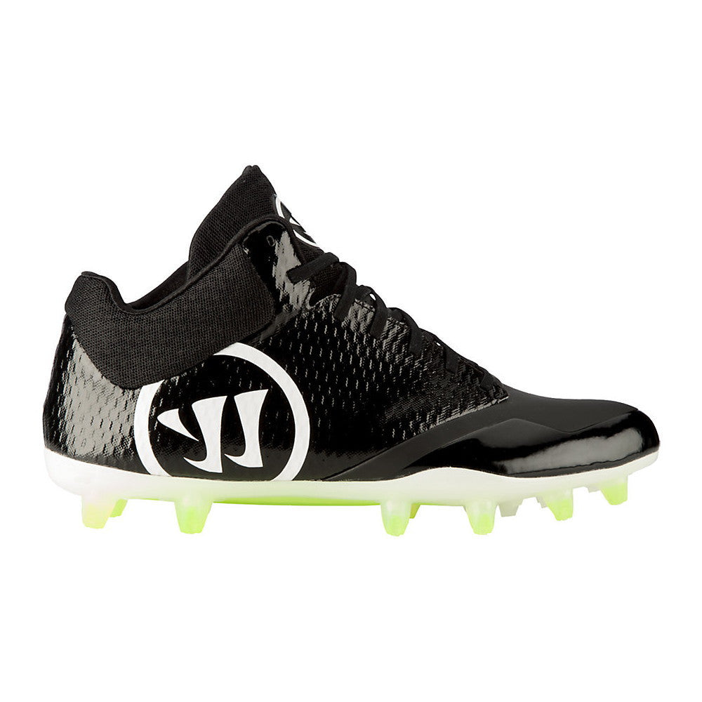 Warrior Burn 9.0 Mid Cleat Black