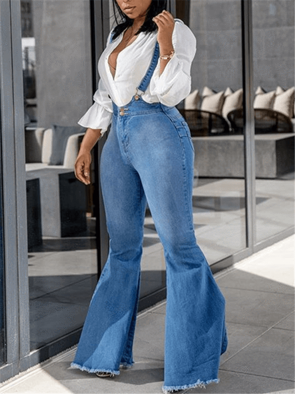 Denim Flared Overall