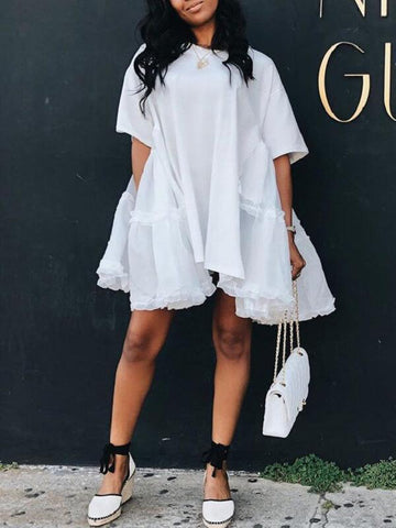 Off Shoulder Center-Slit Dress