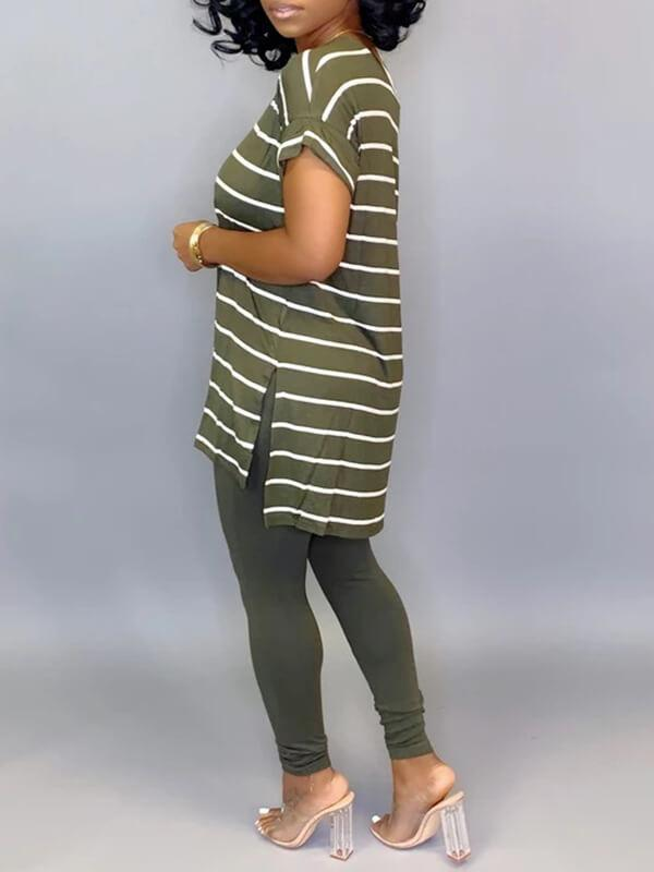Stripe Tee & Leggings Set