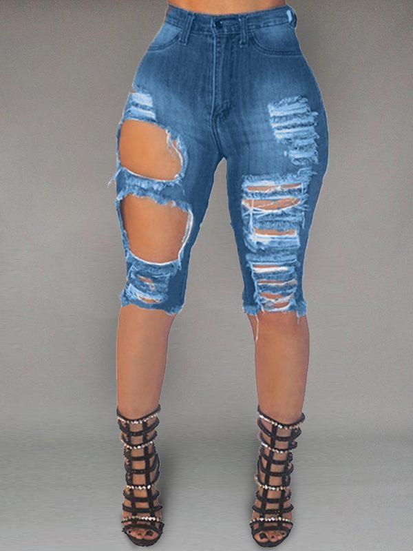 Ripped Cropped Jeans