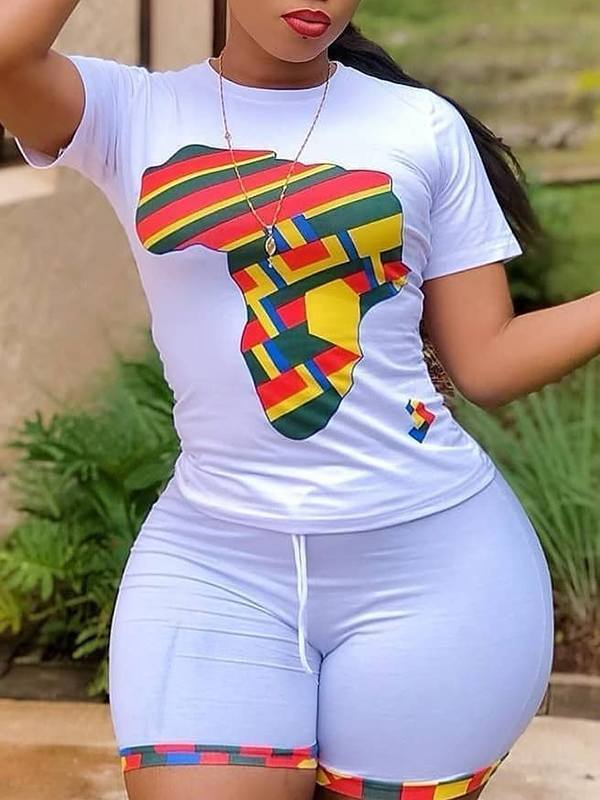 Africa Map Tee & Shorts Set