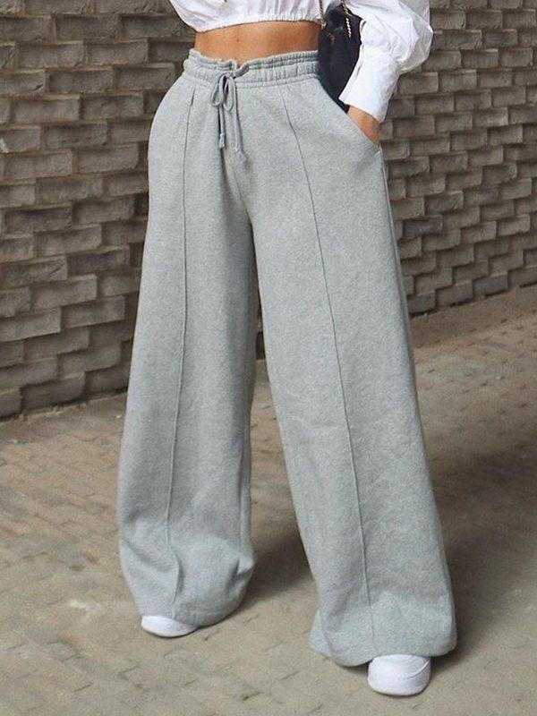 Drawstring Wide-Leg Pants