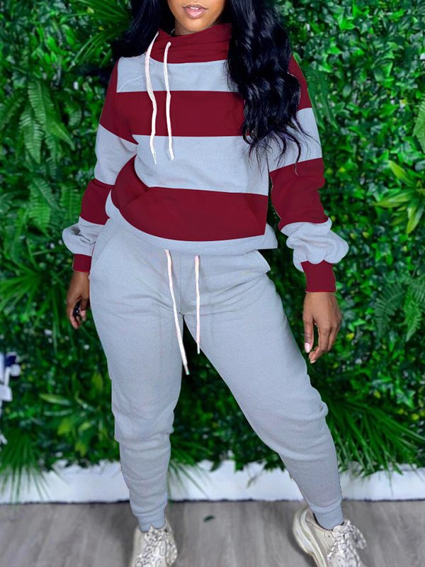 Two-Tone Hoodie & Jogger Pants Set