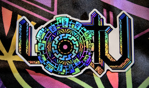 LOTU Logo Holographic Sticker