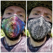 Load image into Gallery viewer, Mandala Face Mask with N99 Filter