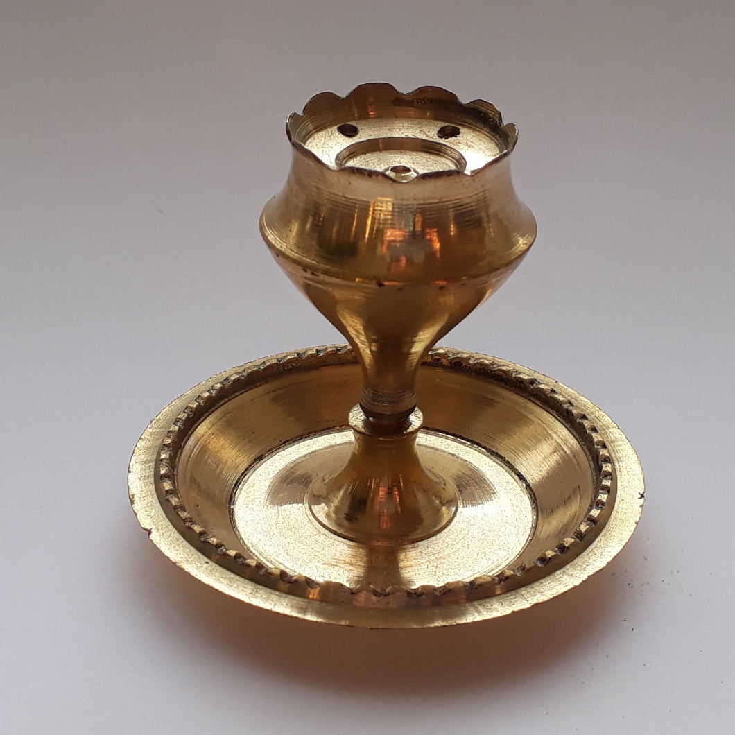 Small Brass Incense Burner - Thyme for U