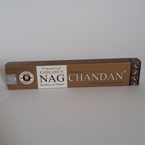 Golden Nag Chandan Masala Sandalwood Agarbathi incense. - Thyme for U