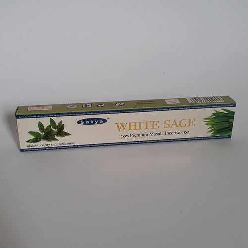 Satya White Sage Premium Incense Sticks - Thyme for U