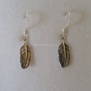 Small Silver Feather Earrings - Thyme for U